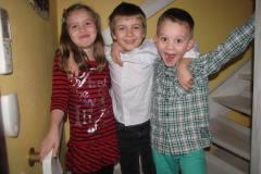 Emma, Lucas og Alexander, 24.12.2011