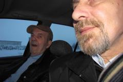 Sture og Jack, på én af vores mange ture