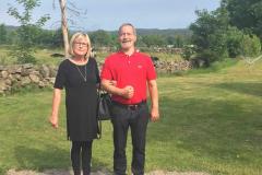 Jack og Marie Louise i Ästad, 26.06. 2019
