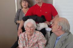 Søster Annette,  Moster Kirsten, bror Jack og morbror Mogens, 10.06.2017
