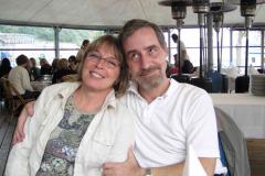 Borddame Gitte og Jack, firmafest