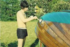 Den årlige bådlakering i gamle dage - i 60érne