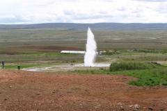 100 m høj Geiser i Island