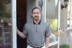 Hjem Frbr. - Jack på terrasse, 06.1999