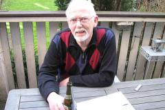 Leif Jacobsen på Frbr. på terrassen på Frbr., 23.04.2008