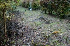 Her fra denne kunstgrav skød Jack sin første ræv, nede ved banen på Køgevej, 26.10.2002