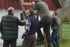 Erik afprøver stige i Borup, 16.04.2016