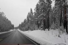 Bæverjagttur til Trysil i Norge, sne og atter sne, 06.05.2019