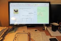 PC- skærm, fra Jack Hansens Vildtanalyse og Afskydningværktøjer